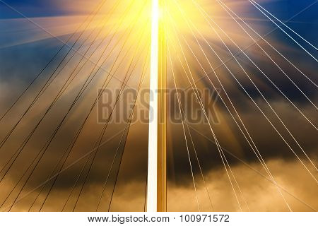 Cable-stayed Bridge With Sun