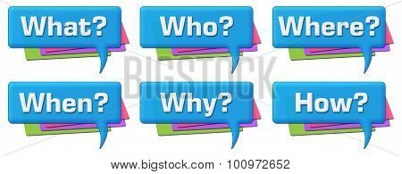 Questions Colorful Comments Symbols