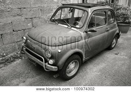 Old Fiat Nuova 500 City Car