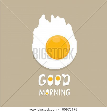 Fried Egg vector . good morning concept.