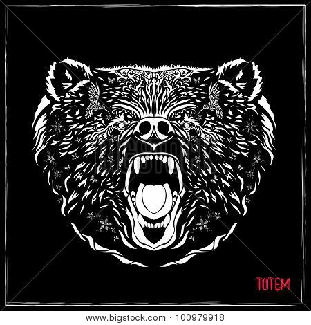 Totem Pole - Grizzly Bear