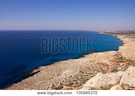 Panoramic View Of Agia Napa Bay