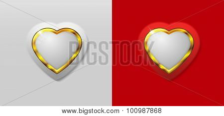 red and white heart sign