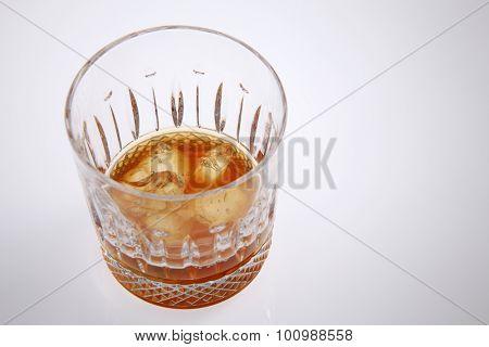 liquor in the wine glass