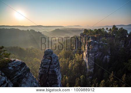 Bastei Rock Formations, Saxon Switzerland National Park, Germany