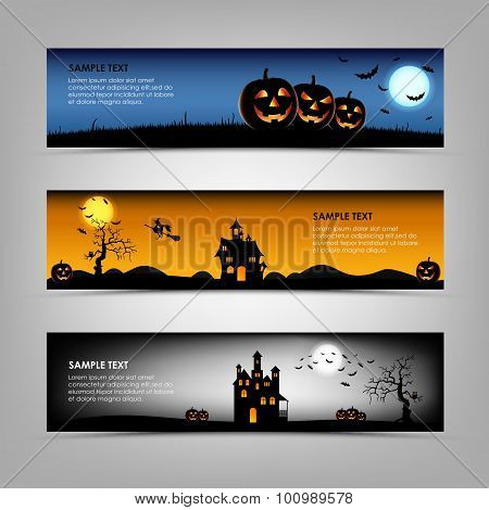 Halloween Night Banners Template