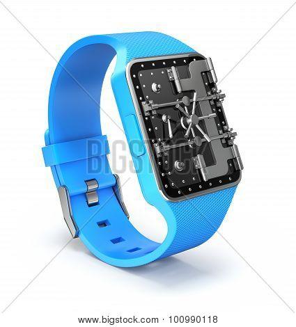 Smart watch with vault door security concept