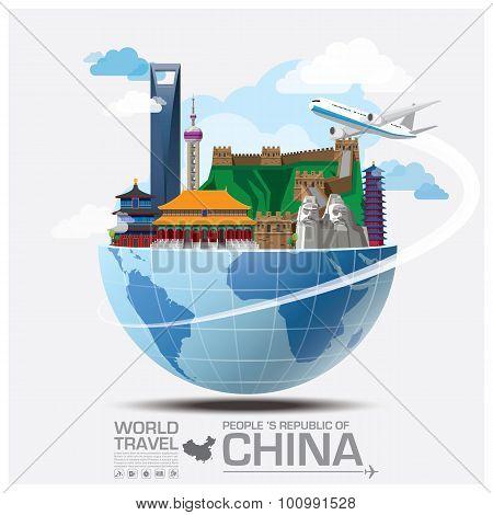 China Landmark Global Travel And Journey Infographic
