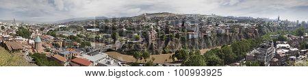 Panoramic View Of Tbilisi Town. Georgia