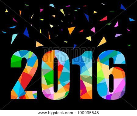 2016 new year colorful design