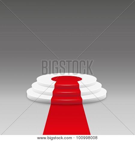 Empty Illuminated Podium For Award Ceremony