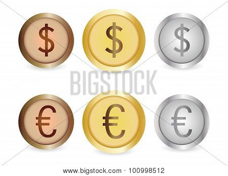 Gold, Silver, Copper Coins
