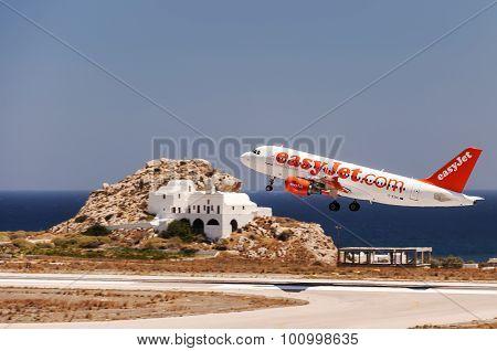 Santorini Departure Easy Jet