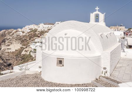 Santorini Oia White Church
