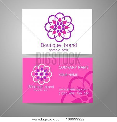 Boutique brand - template logo. The luxury, richness, exclusive, business, presentation of corporate identity.