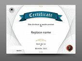 Certificate Diploma Border, Certificate Template. Vector Illustration poster