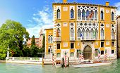 image of academia  - Famous Academia building at canal in Venice - JPG