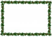 picture of christmas cards  - border of holly for christmas card or invitation - JPG