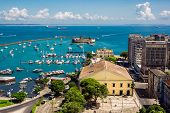 Постер, плакат: View Of All Saints Bay In Salvador Bahia Brazil