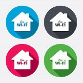 Постер, плакат: Home wifi sign Wifi symbol Wireless Network