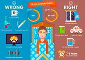 Постер, плакат: Sleep infographic