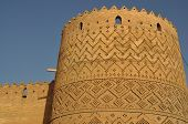 stock photo of shiraz  - city wall and tower in the centre of Shiraz - JPG