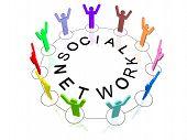 Постер, плакат: Социальная сеть