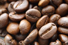 stock photo of extreme close-up  - coffee beans close - JPG