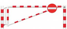 picture of no entry  - Gated Road Barrier Closeup - JPG