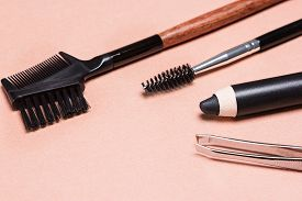 stock photo of eyebrows  - Accessories for care of brows - JPG
