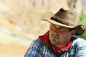 stock photo of wrangler  - OUT WEST - JPG