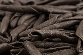 pic of cuttlefish  - italian seppia pasta fusilli macaroni with cuttlefish ink for background - JPG