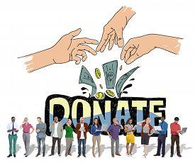picture of generous  - Donate Money Charity Generous Hands Concept - JPG