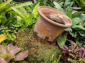 pic of pottery  - Mini garden decoration by pottery jar pottery pitcher - JPG