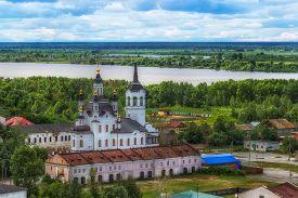 foto of siberia  - Tobolsk Church Zachariah and Elizabeth centre top view Russia Siberia Asia Irtysh river panorama - JPG