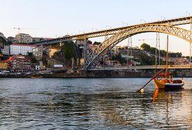 picture of dom  - view of Dom Luis I bridge in Porto - JPG