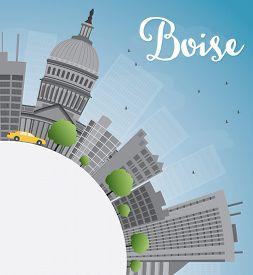 pic of boise  - Boise Skyline with Grey Building - JPG