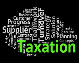 picture of irs  - Taxation Word Showing Taxes Irs And Levies - JPG