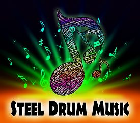 picture of steelpan  - Steel Drum Music Meaning Sound Tracks And Pans - JPG