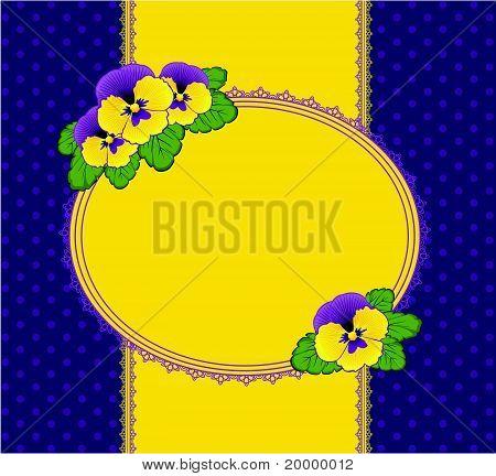 Mooie achtergrond met kant en bloemen