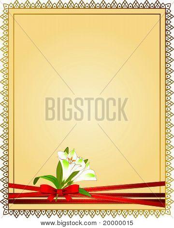 Schönen Hintergrund mit Spitze und Blumen