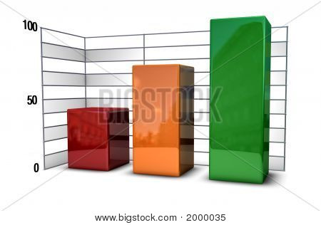 Bar Chart Metallic