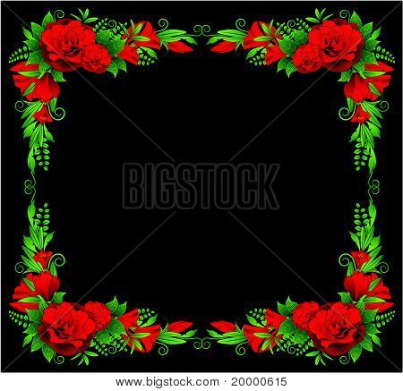 Blumen auf dem Hintergrund einer Dekorrahmen für text