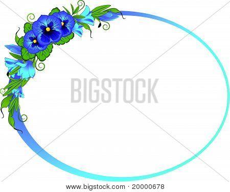 Schöne Blumen auf weißem Hintergrund