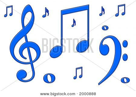 Blue Musical Notes