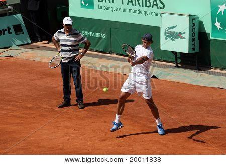 Rafael And Tony Nadal (esp) At Roland Garros 2011