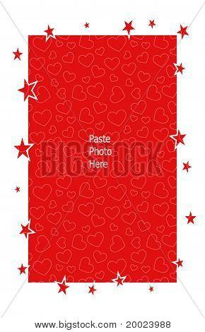 red heart star frame