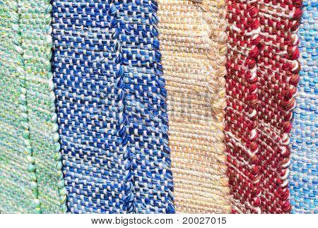 Fondo de la alfombra multicolor en la Feria