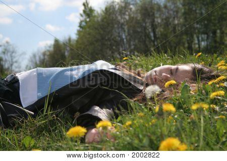 Relaxing Teenagers Girl