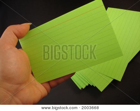 Index Cards In Hand 3